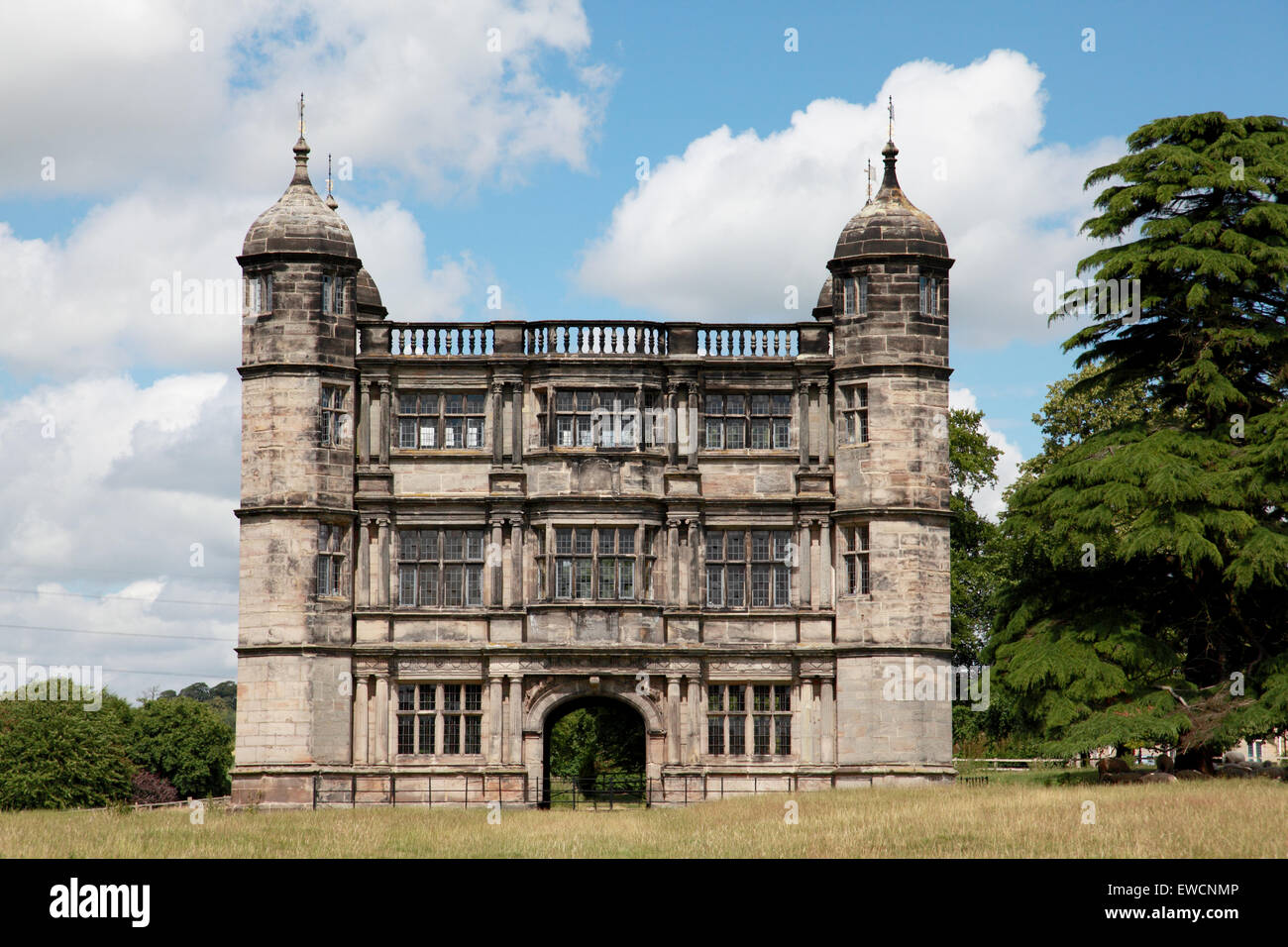 Tixall gatehouse in Staffordshire, built about 1580 and now owned by the Landmark Trust - Stock Image