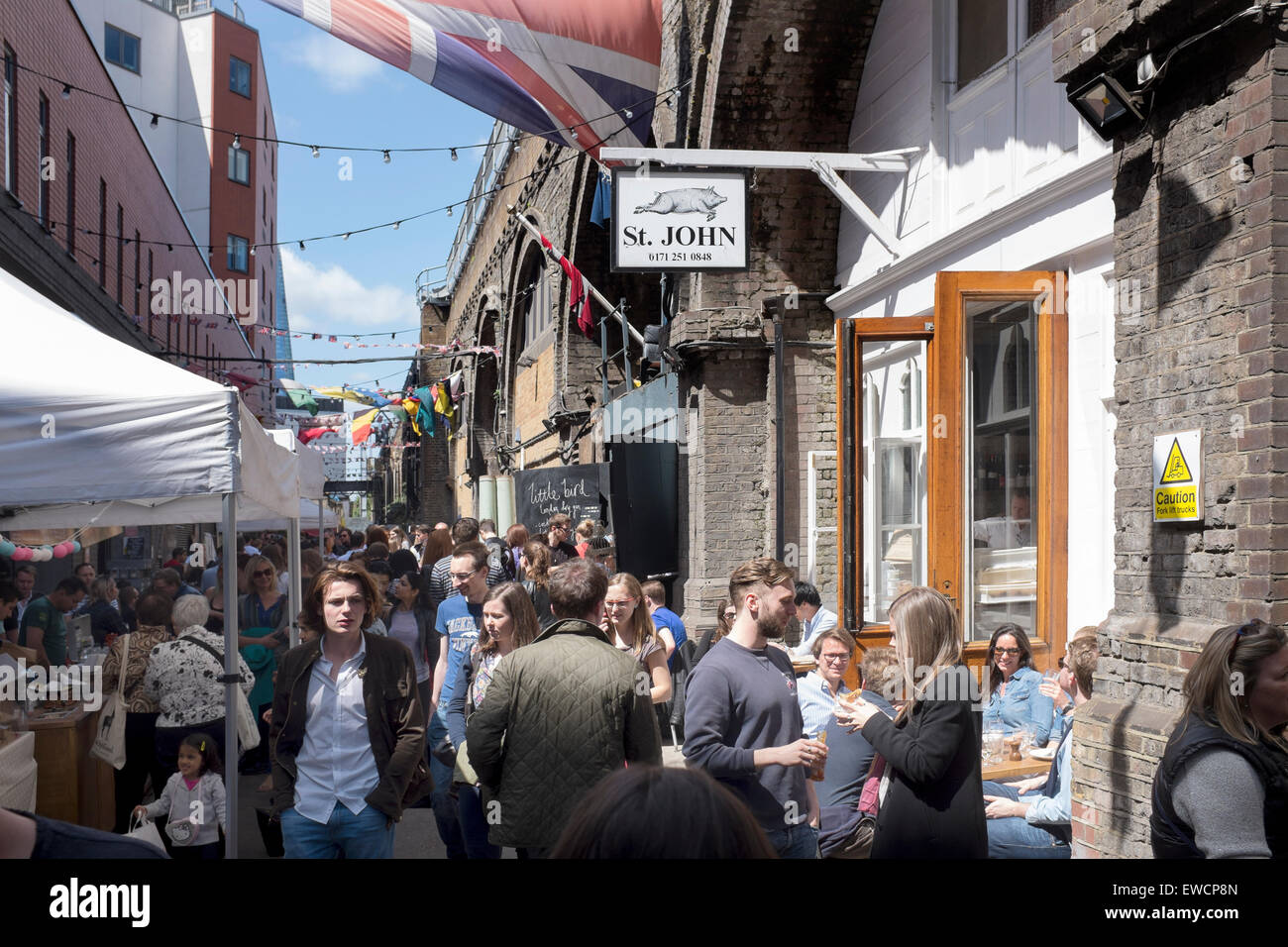 Maltby Street Food Market London - Stock Image