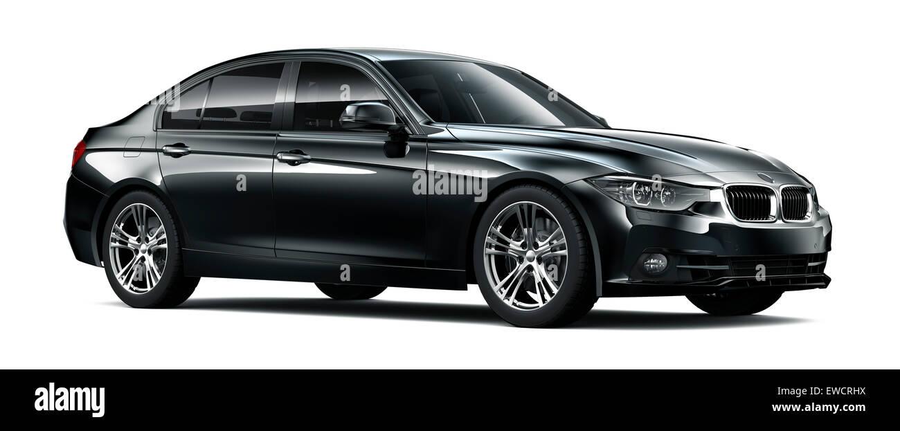 Modern Black Car - Stock Image