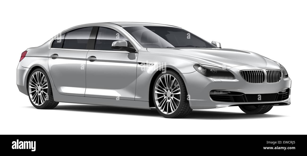 Silver luxury car - Stock Image
