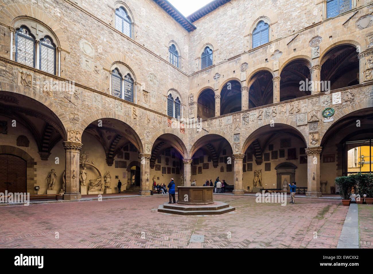 Museo Del Bargello.Interior Courtyard Museo Nazionale Del Bargello Florence Italy