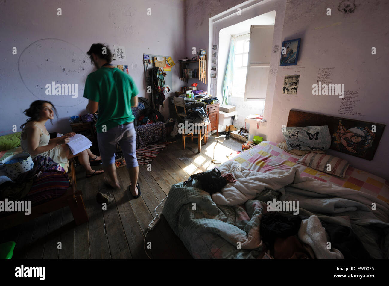 two teenagers in a messy bedroom stock photo 84493337 alamy rh alamy com