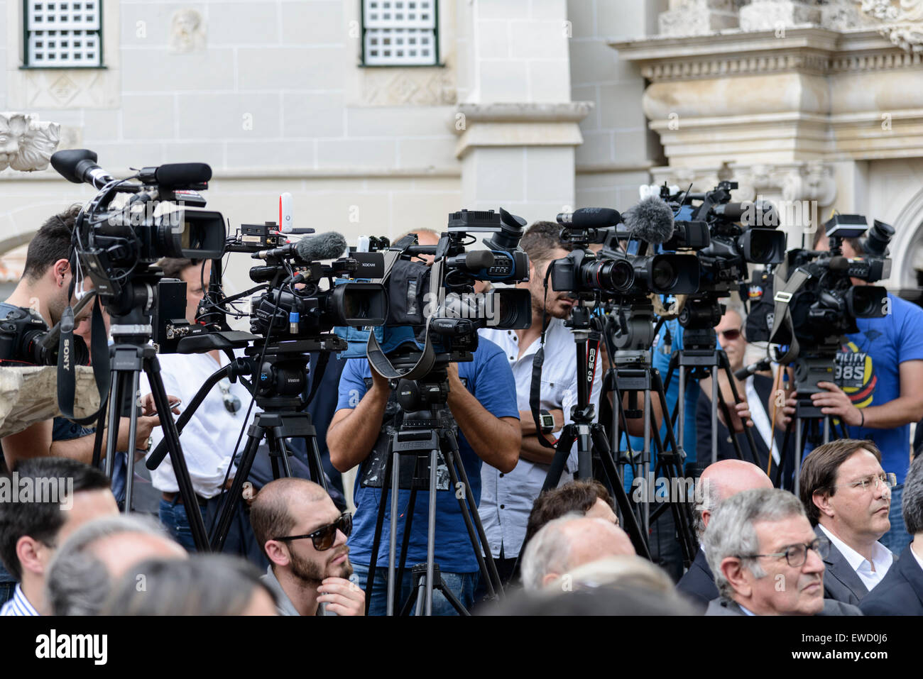 News cameramen covering an event - Stock Image