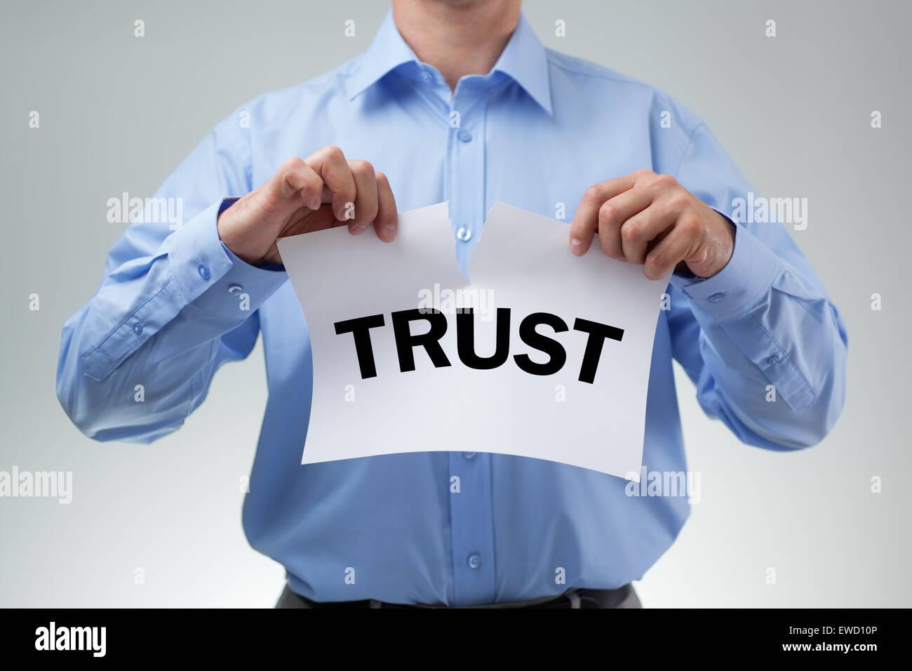 Broken trust - Stock Image