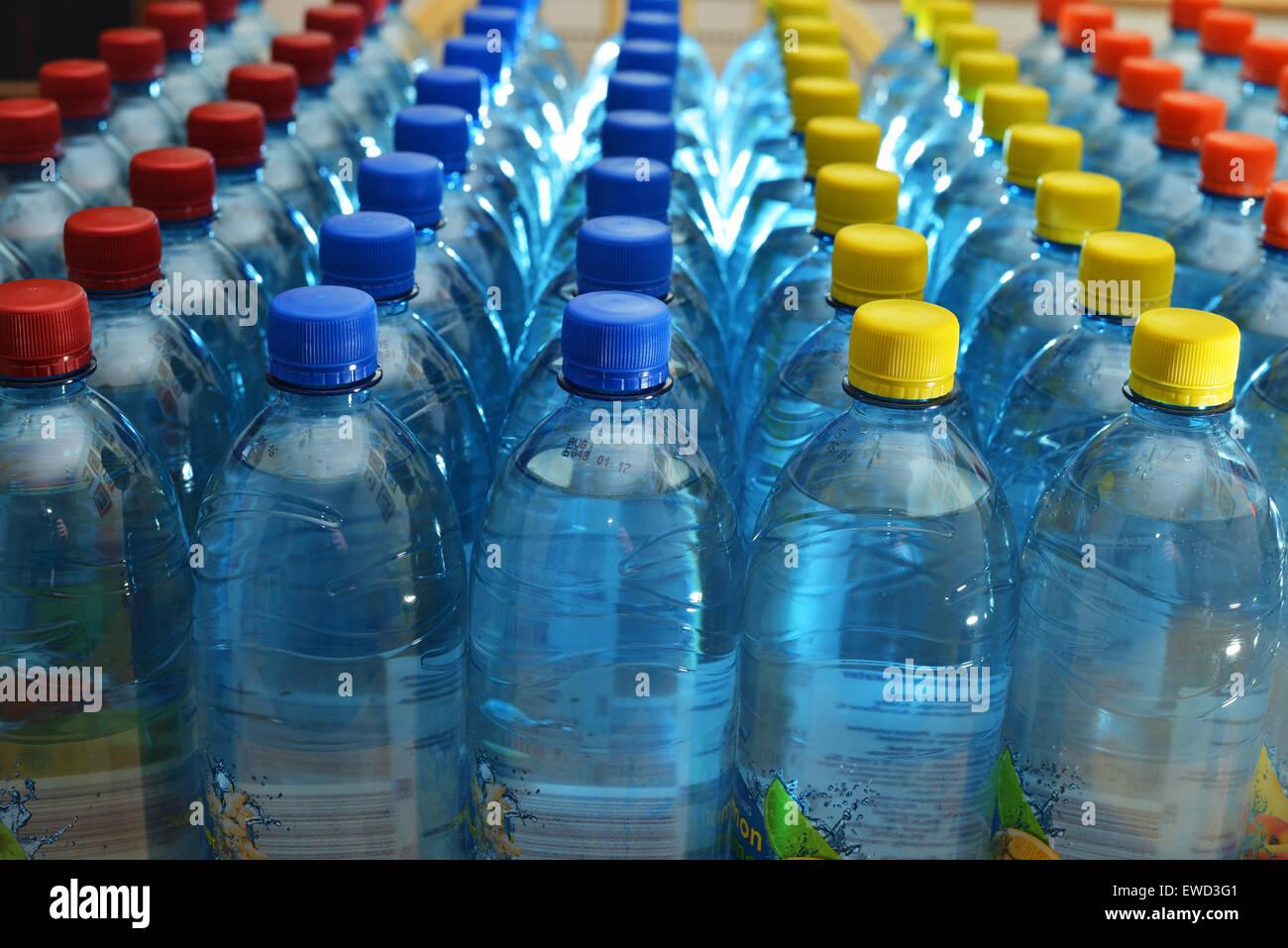 Plastic bottles - Stock Image
