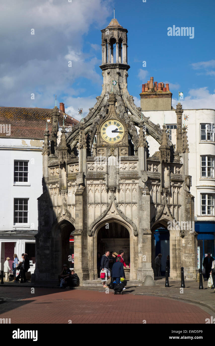 The medieval Butter Cross in Chichester city centre, England. Stock Photo