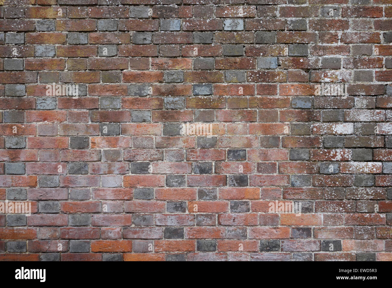 English red brick wall surface texture background Stock Photo