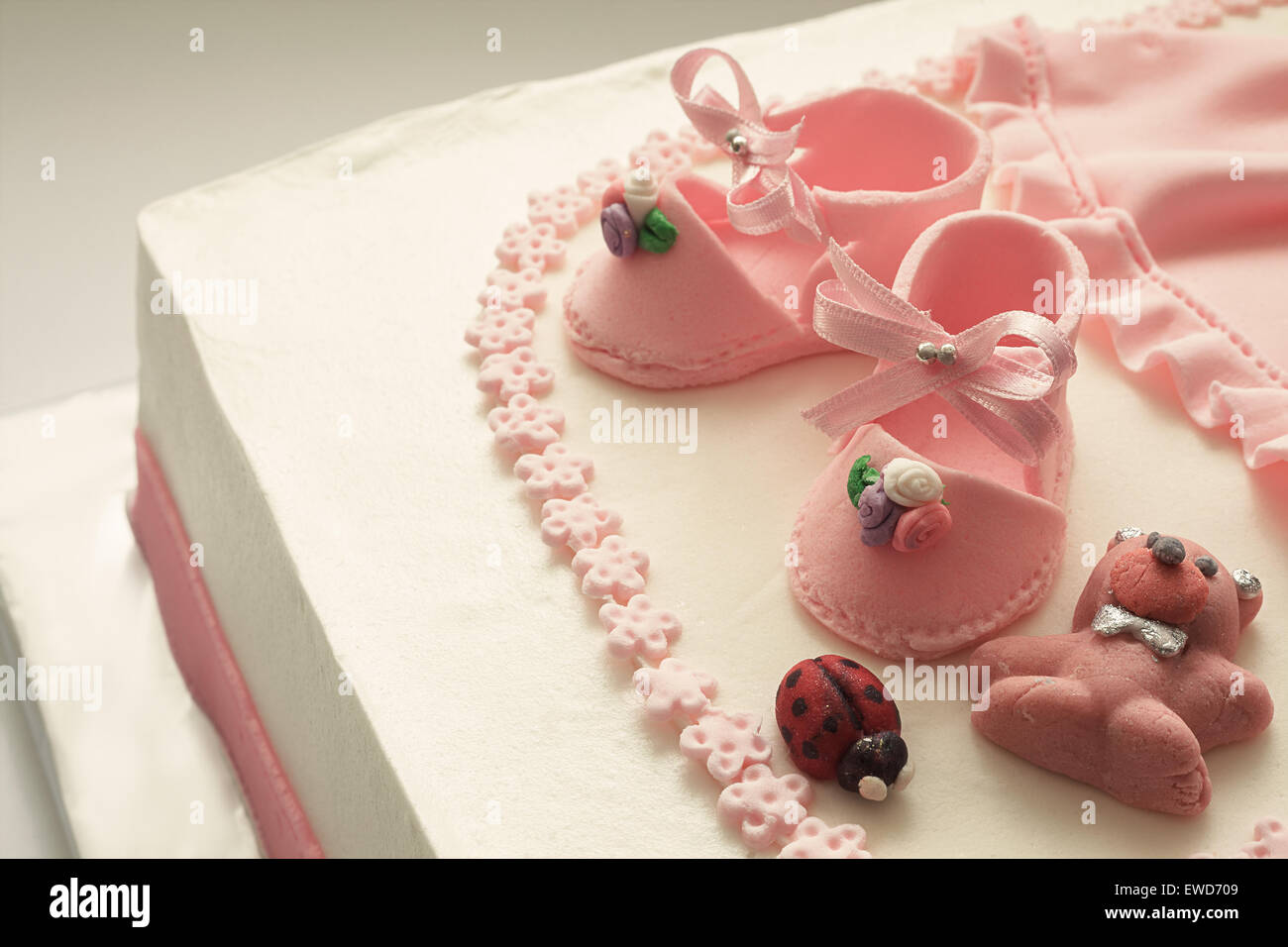 Details Birthday Cake Baby Girl Stock Photos Details Birthday Cake
