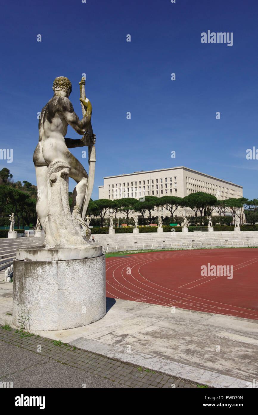Stadio dei Marmi sports stadium built in the 1920's Foro Italico, Rome Italy Stock Photo