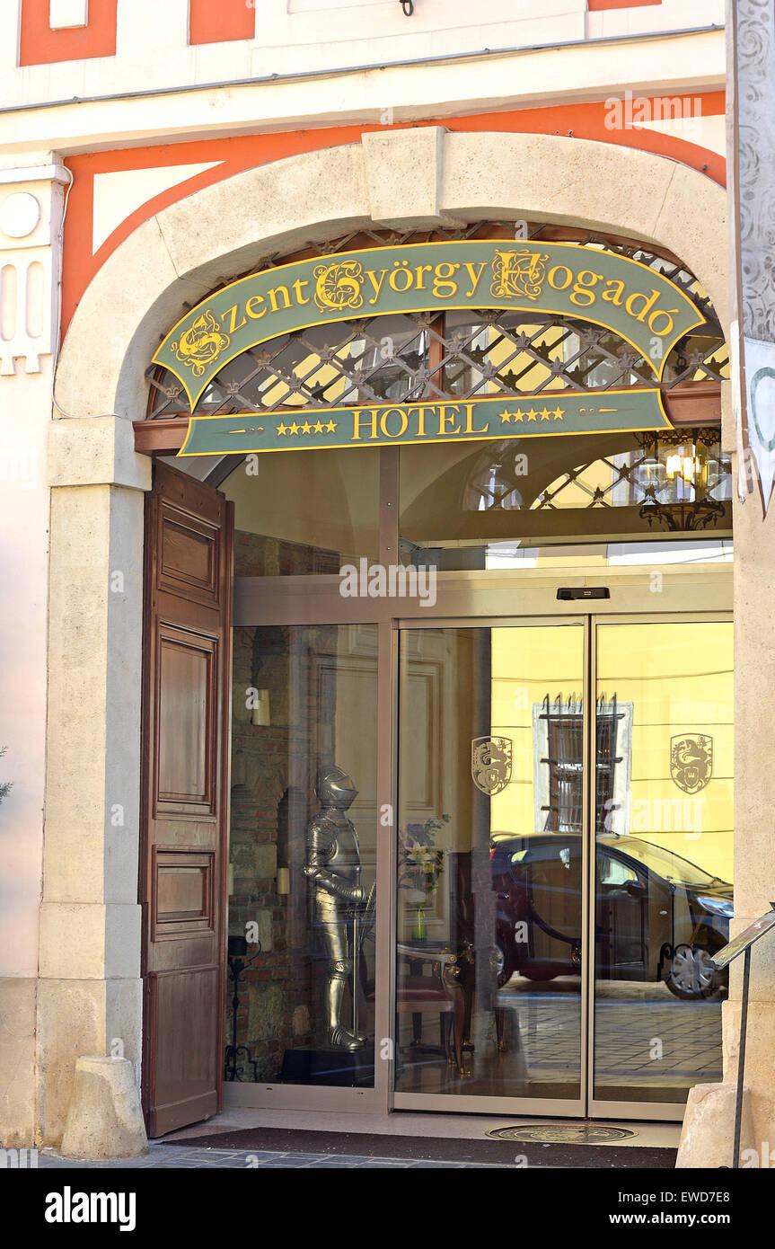 Szent Gyorgy Fogado hotel Pecs Budapest Hungary - Stock Image