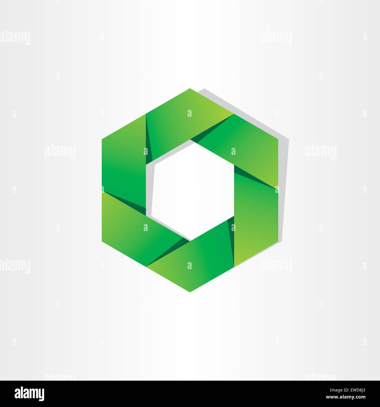 Green Hexagon Eco Symbol Abstract Background Design Stock