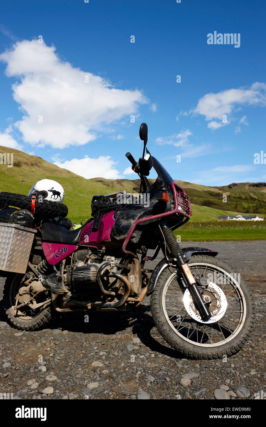 german bmw motorbike touring iceland - Stock Image