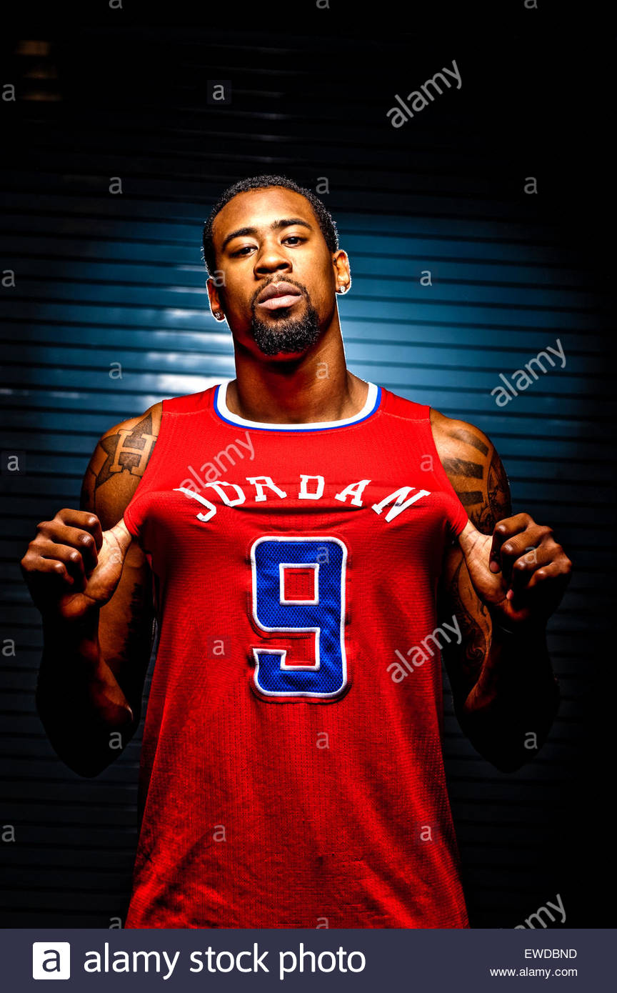 Portrait of DeAndre Jordan - Stock Image