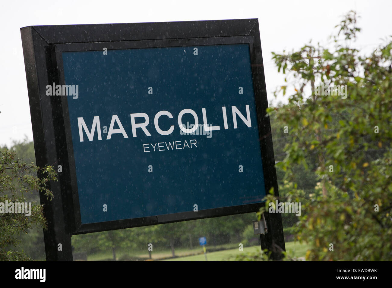A logo sign outside of a facility occupied by Marcolin Eyewear in Somerville, New Jersey. - Stock Image