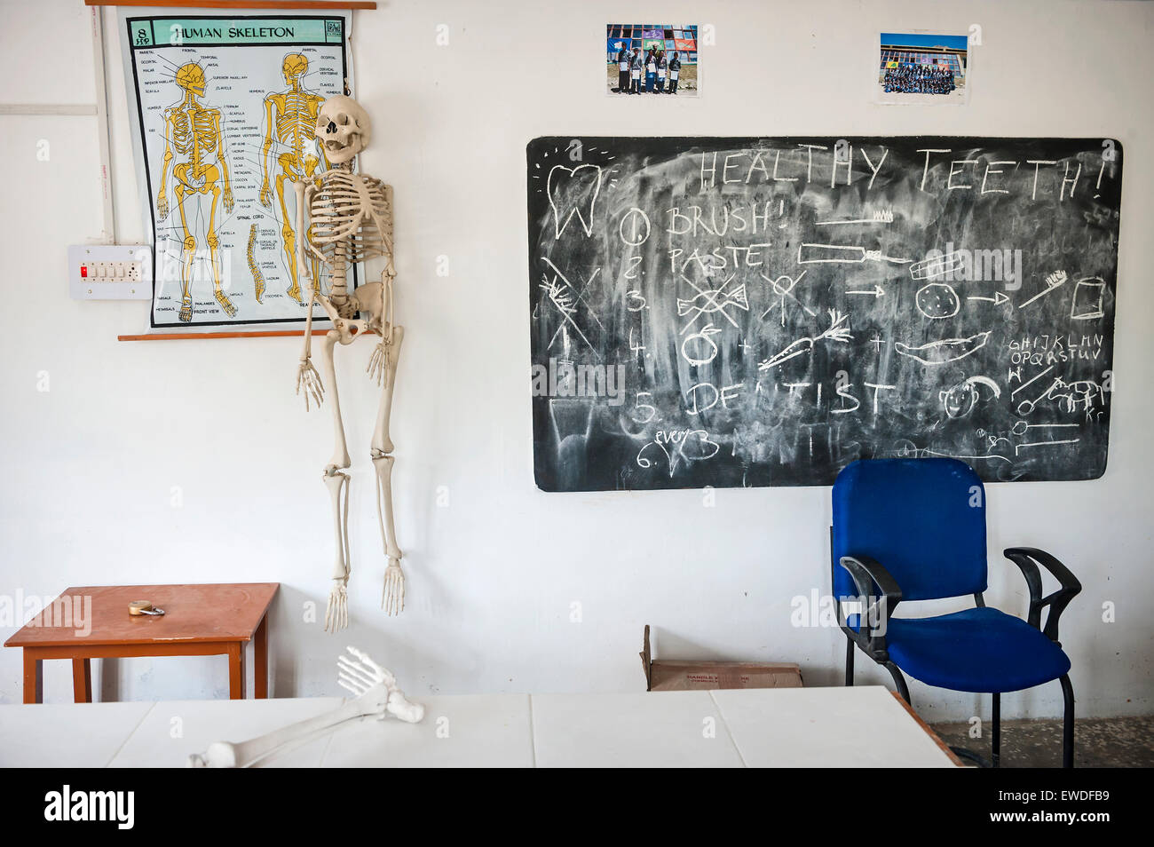 A classroom in a school in Hemis Shukpachen, Ladakh, India. - Stock Image