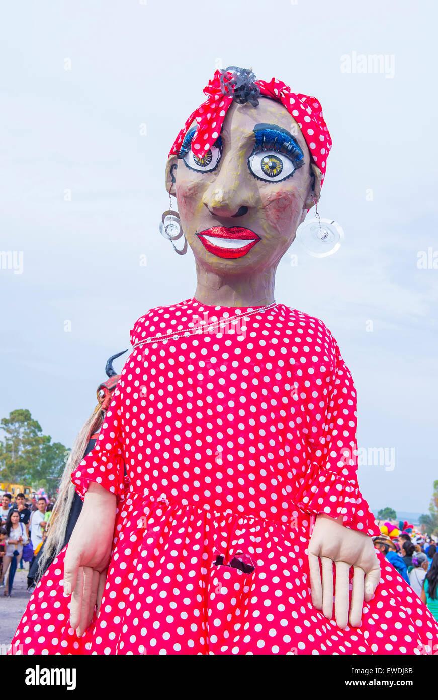 Mojigangas at the festival of Valle del Maiz San Miguel de Allende ,Mexico. - Stock Image