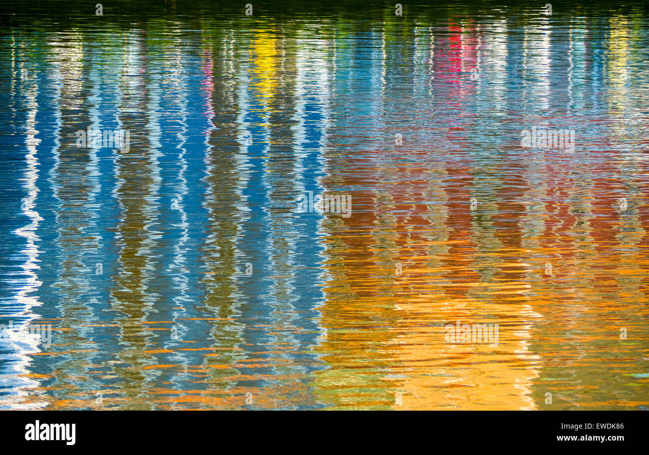 Reflections at Nerbion river - Stock Image