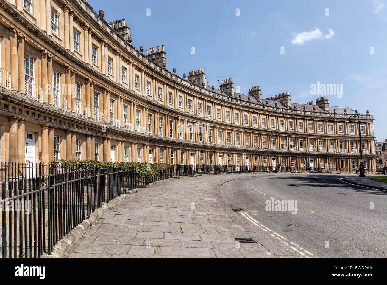Section of Georgian houses in The Circle in Bath - Stock Image