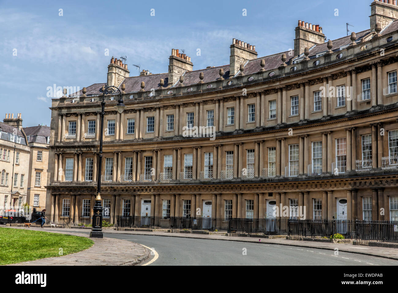 Section Of Georgian Houses At The Circle In Bath Somerset
