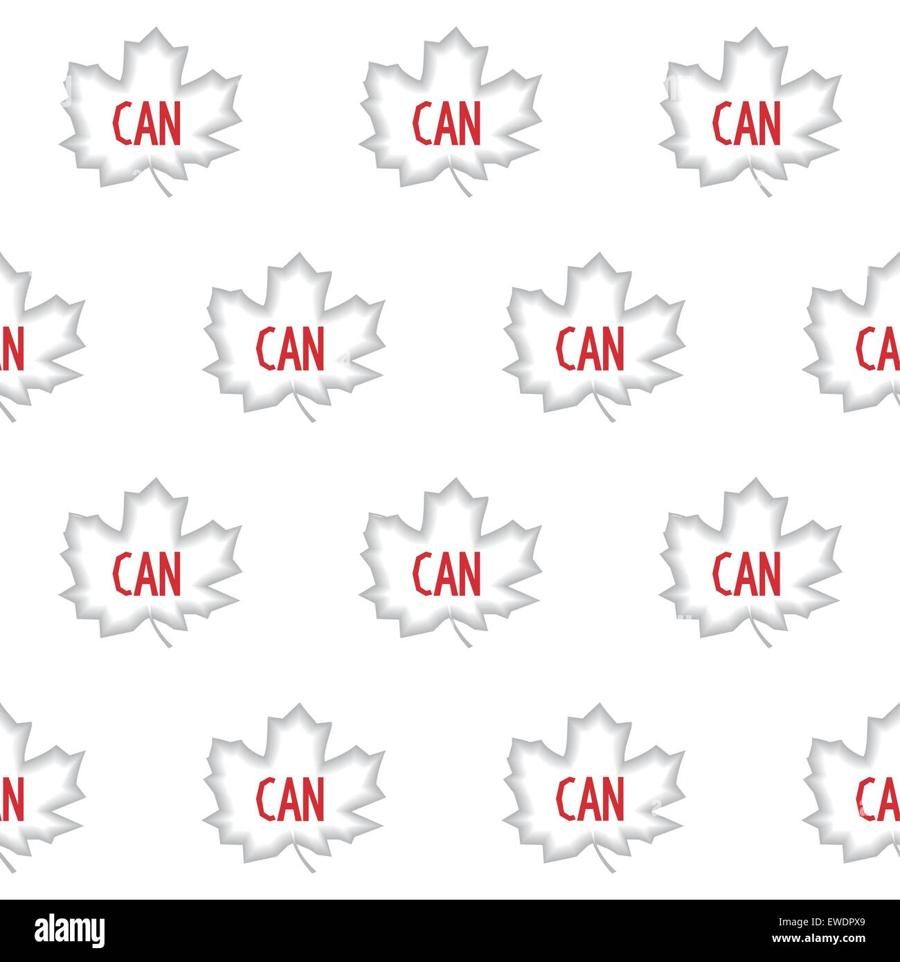 Seamless Pattern Of Grey Maple Leaves And Red Abbreviation Canada
