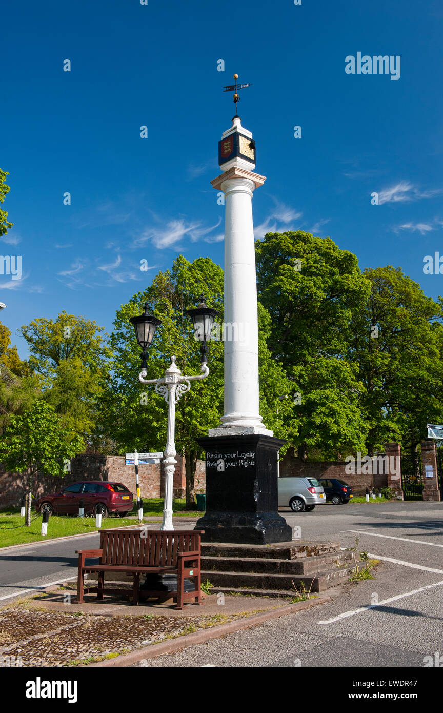 17th Century High Cross at the top end of Boroughgate in Appleby in Westmorland, Cumbria, UK - Stock Image