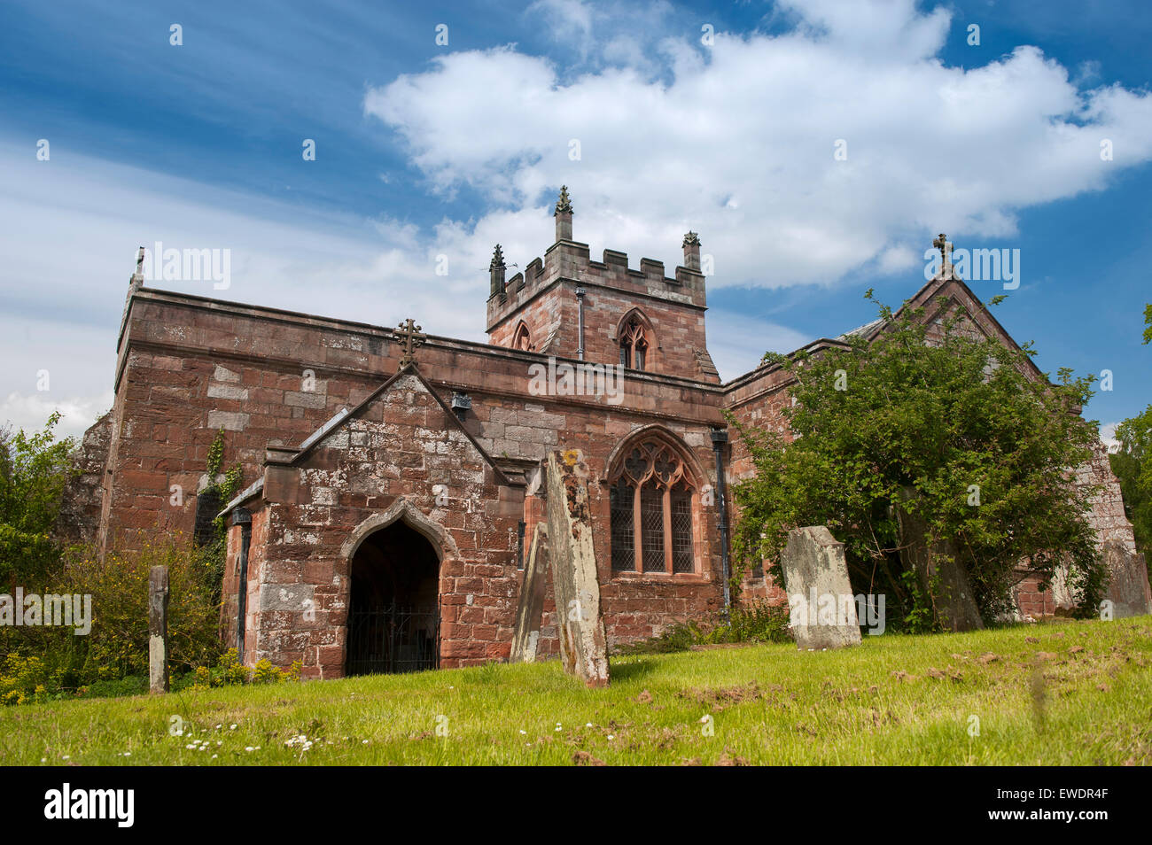 12c Church of Saint Michael in the Sands area of Appleby in Westmorland, UK. - Stock Image