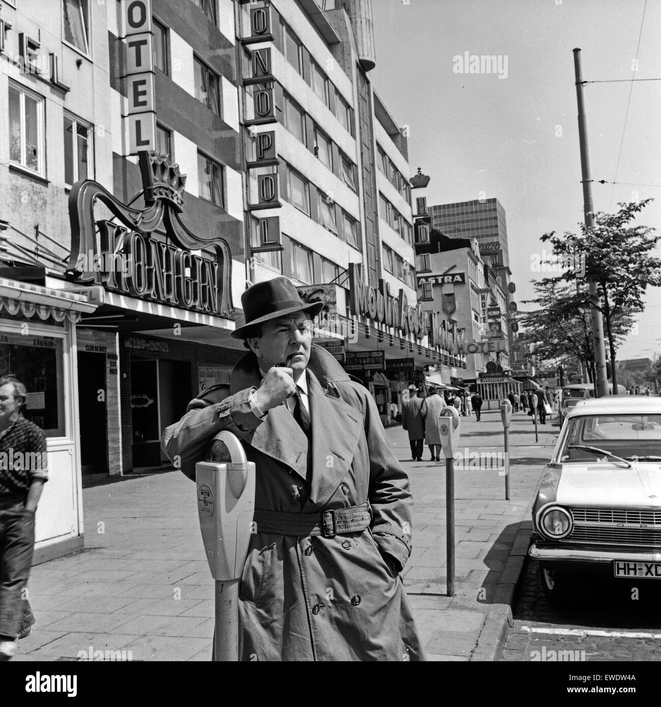 maigret in hamburg szenenfoto deutschland 1965 stock photo
