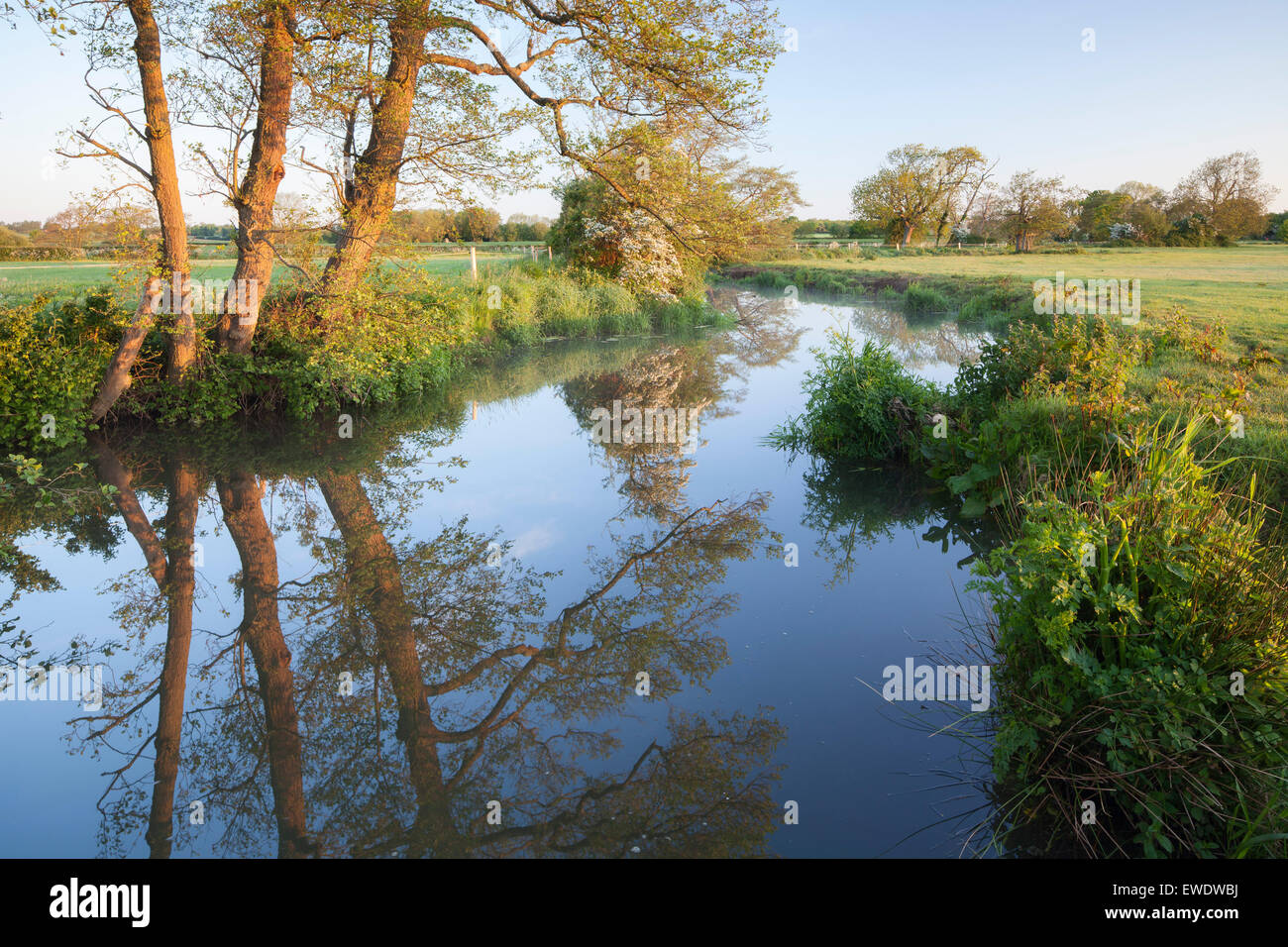 River Ouse at Barcombe Mills near Lewes, East Sussex, England, UK - Stock Image