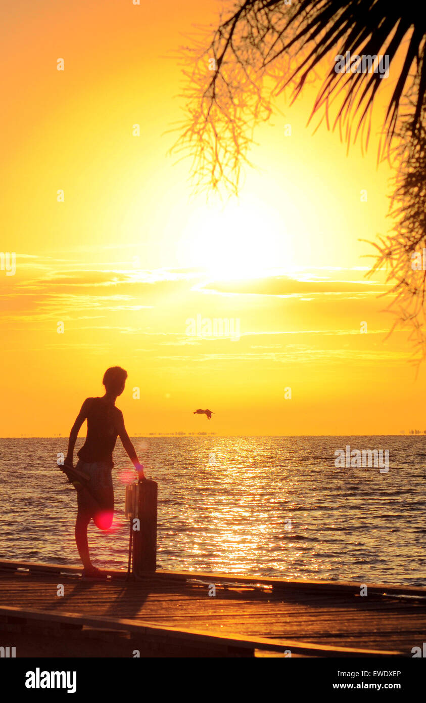 Anna Maria Island, Florida, USA. 24th June, 2015. A glorious start to the day at the City Pier after overnight storms. - Stock Image