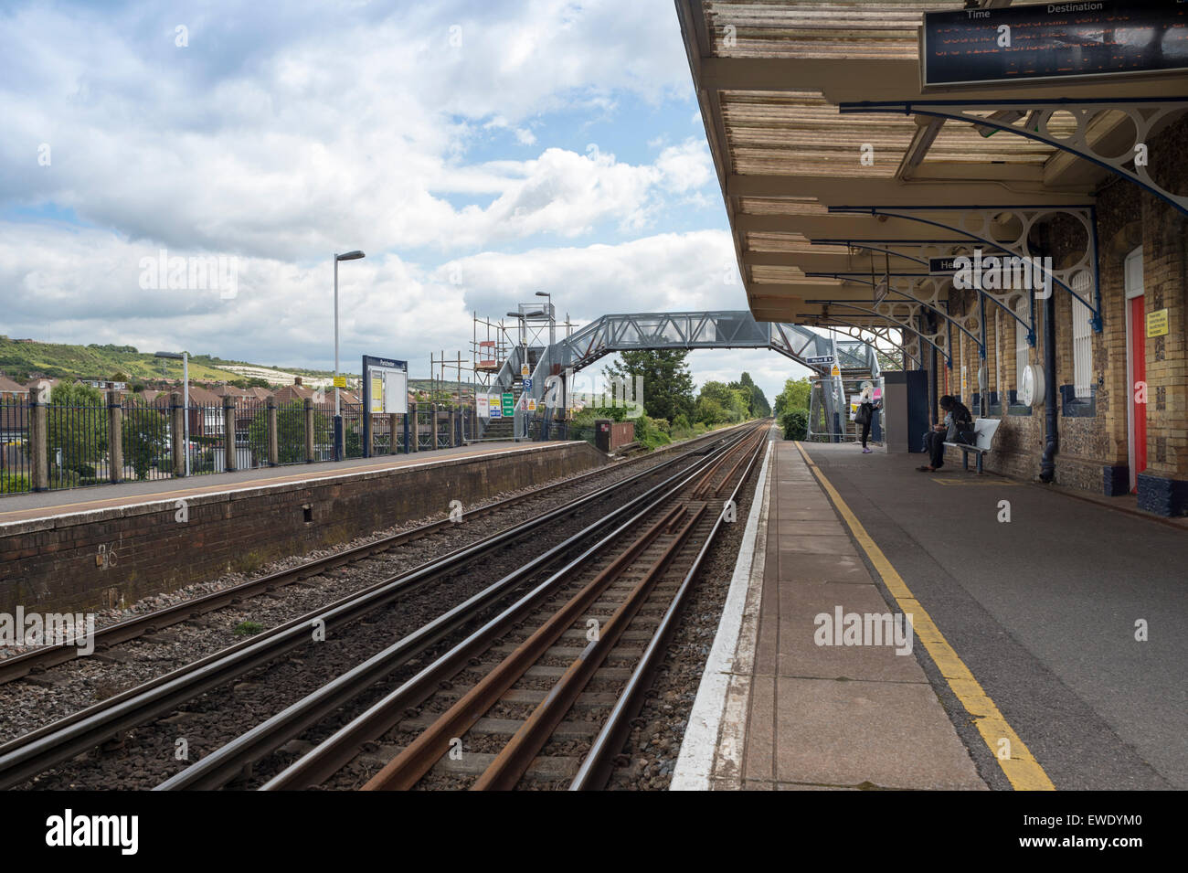 rural railway station, Portchester in hampshire - Stock Image