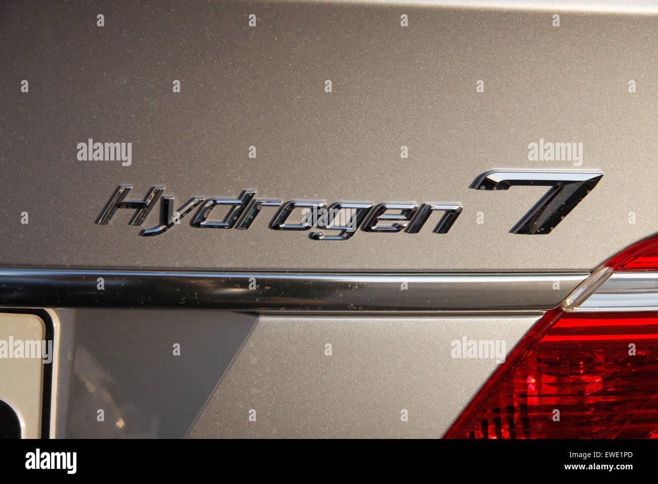 JUNE 2008 - BERLIN: 'Hydrogen 7' a luxury sedan of the German car manufacturer BMW - Bayerische Motorenwerke, - Stock Image