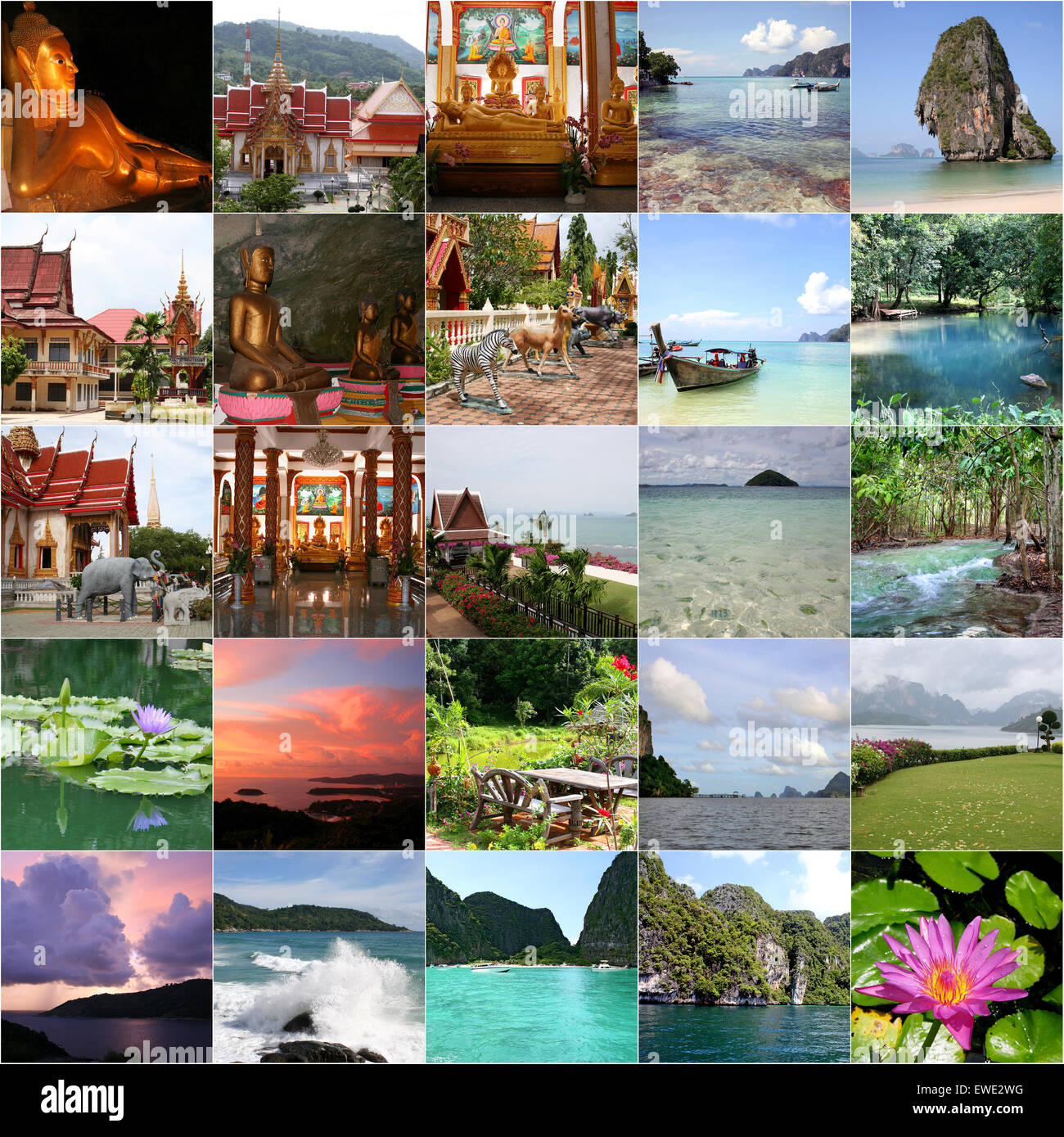 Collage From Thailand Stock Photo 84517484