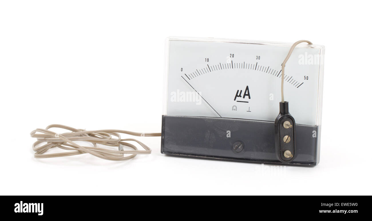 Old meter isolated on the white background - Stock Image