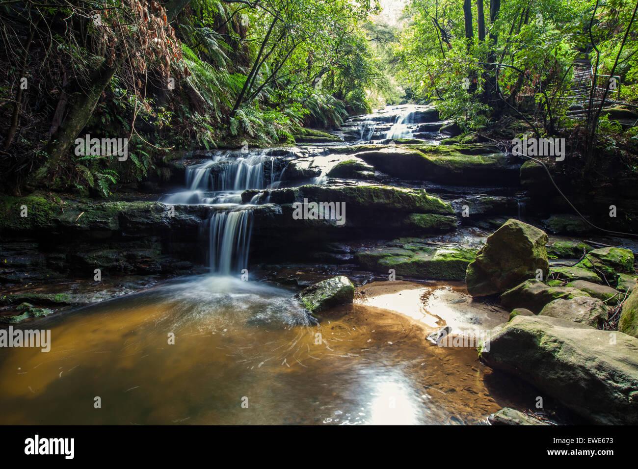 Leura Falls, Blue Mountains, Australia. Stock Photo
