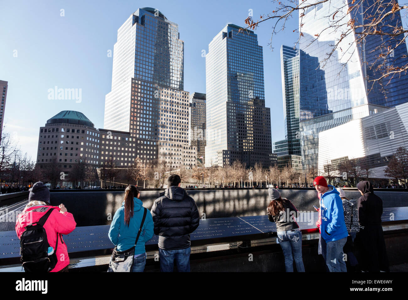 New York City NY NYC Manhattan Lower Financial District National September 11 Memorial & Museum 911 9/11 plaza - Stock Image