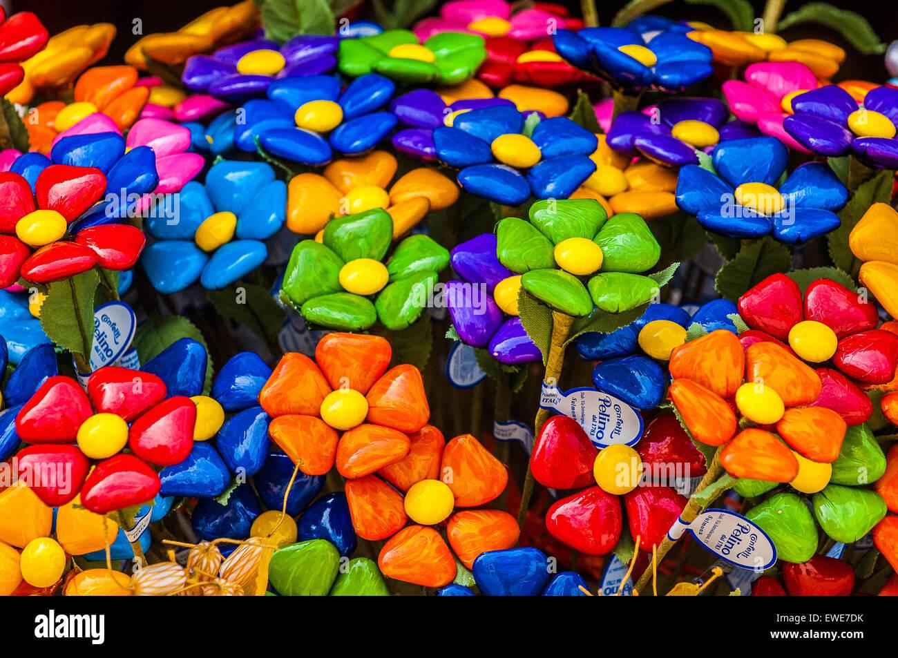 Italy Abruzzo Confetti Di Sulmona Typical Product Stock