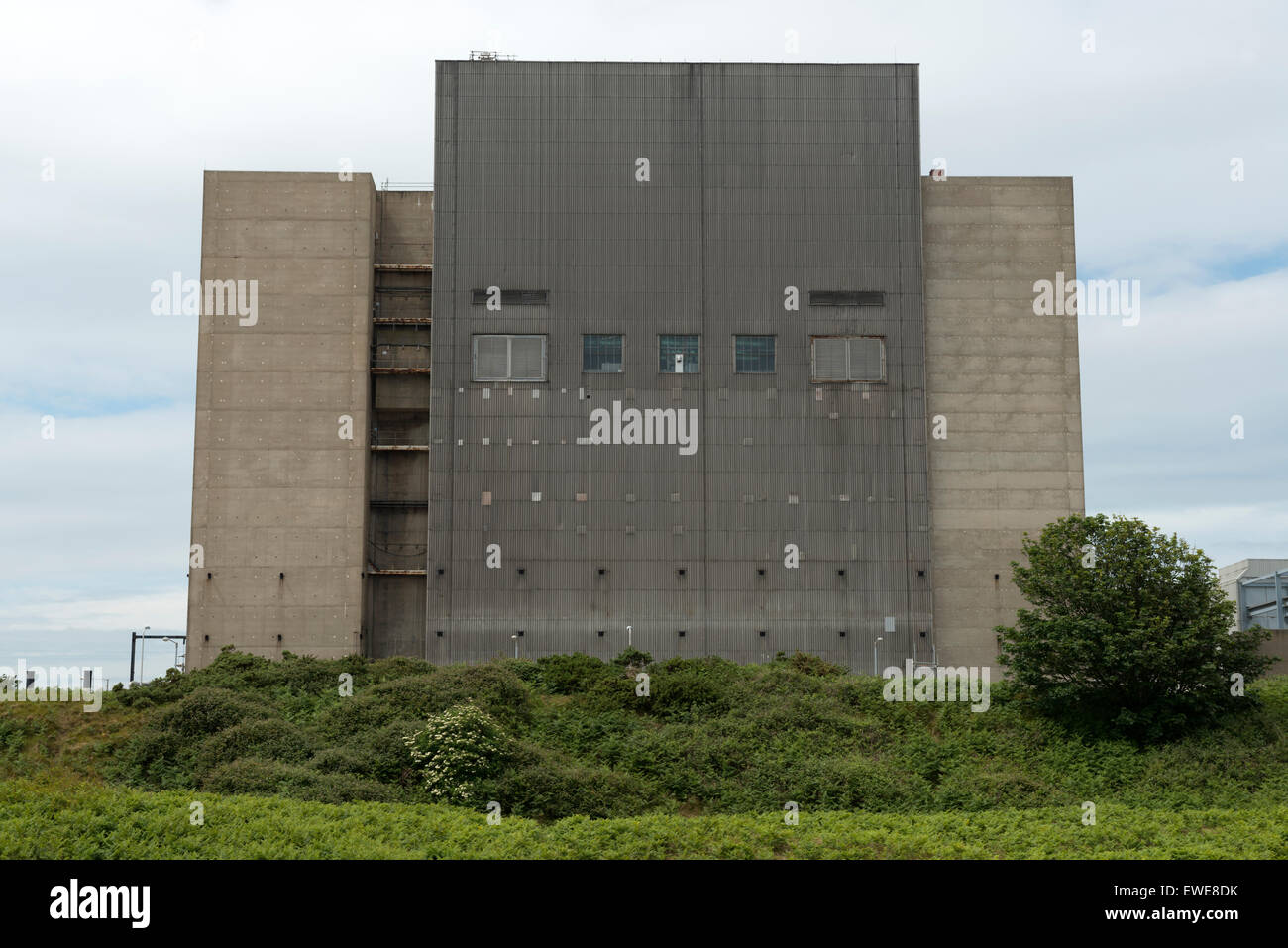 Decommissioned Sizewell A nuclear power station Suffolk UK. - Stock Image