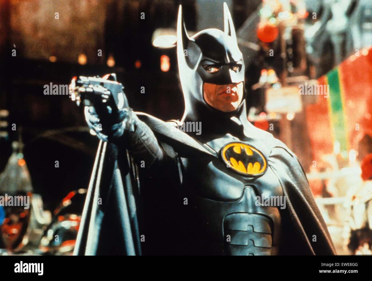 batman returns, michael keaton - Stock Image