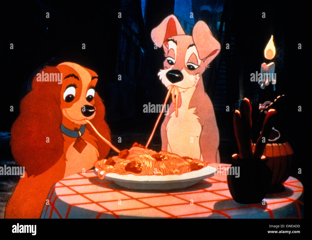 Lady and the Tramp - Stock Image