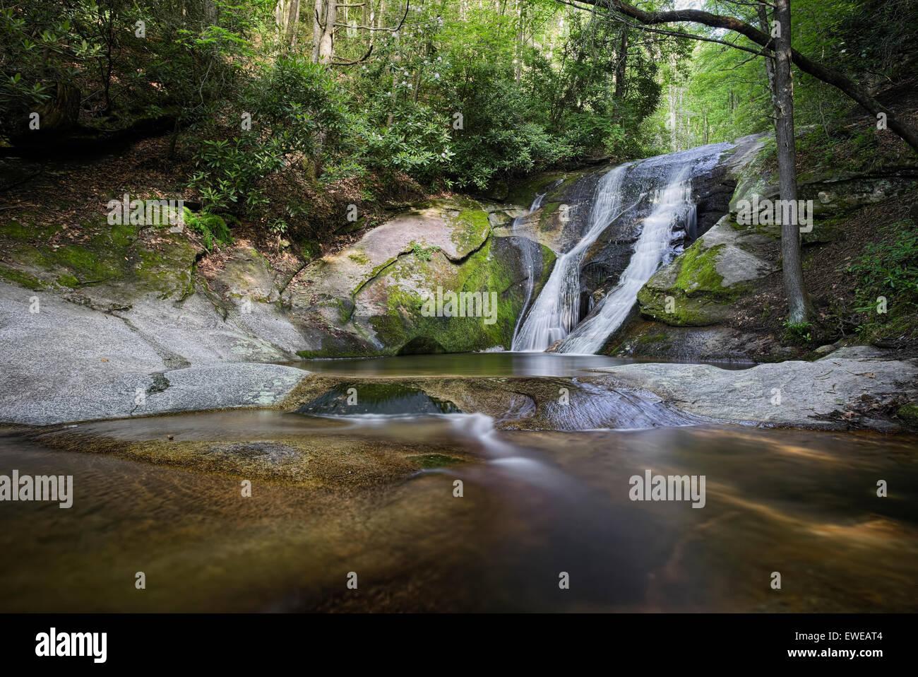 Widows Creek Falls In Stone Mountain State Park Roaring Gap North