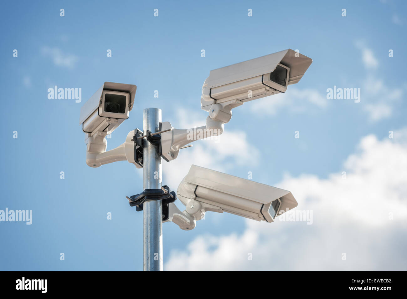 Security cctv surveillance camera - Stock Image