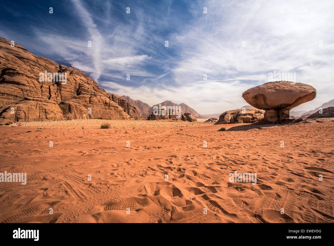 Scenic view of Wadi Rum desert, Jordan - Stock Image