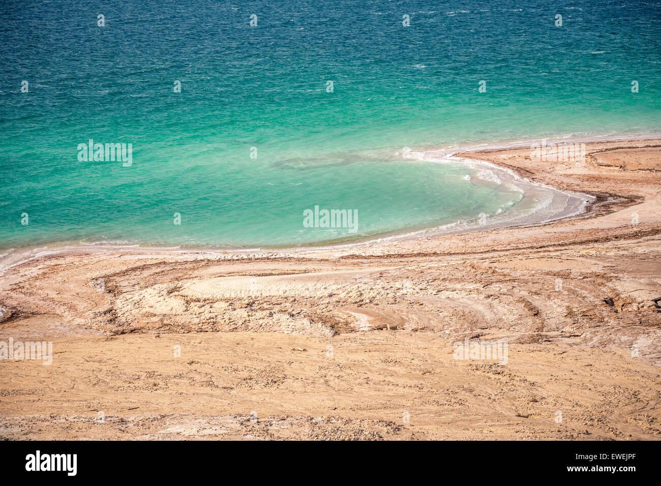 View of Dead Sea coastline - Stock Image