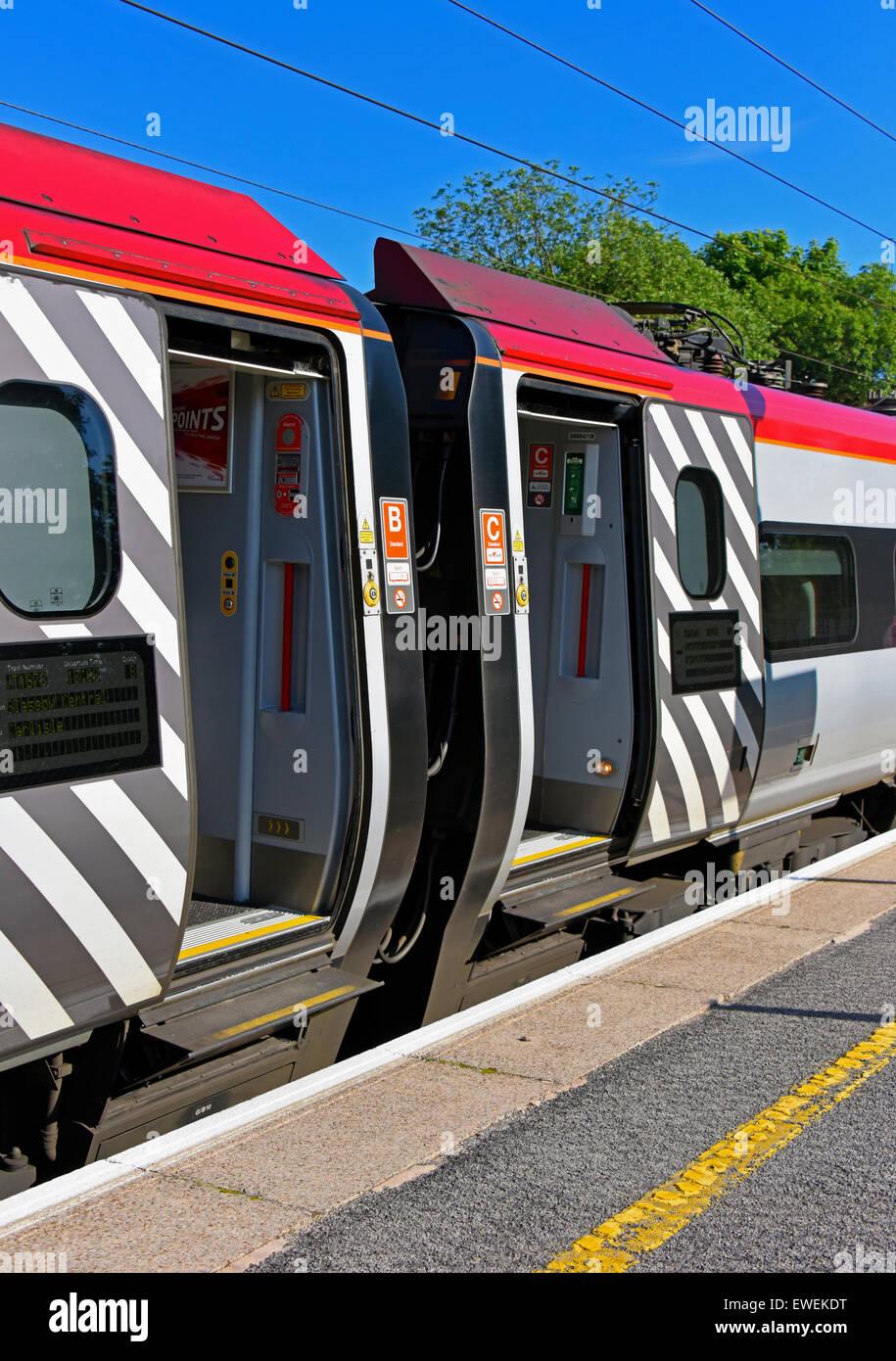 Sliding Doors Virgin Class 390 Pendolino Passenger Train