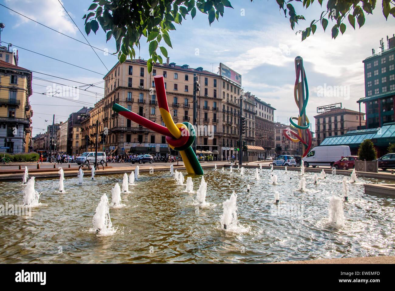 Ago filo nodo, famous sculpture in Milan Stock Photo