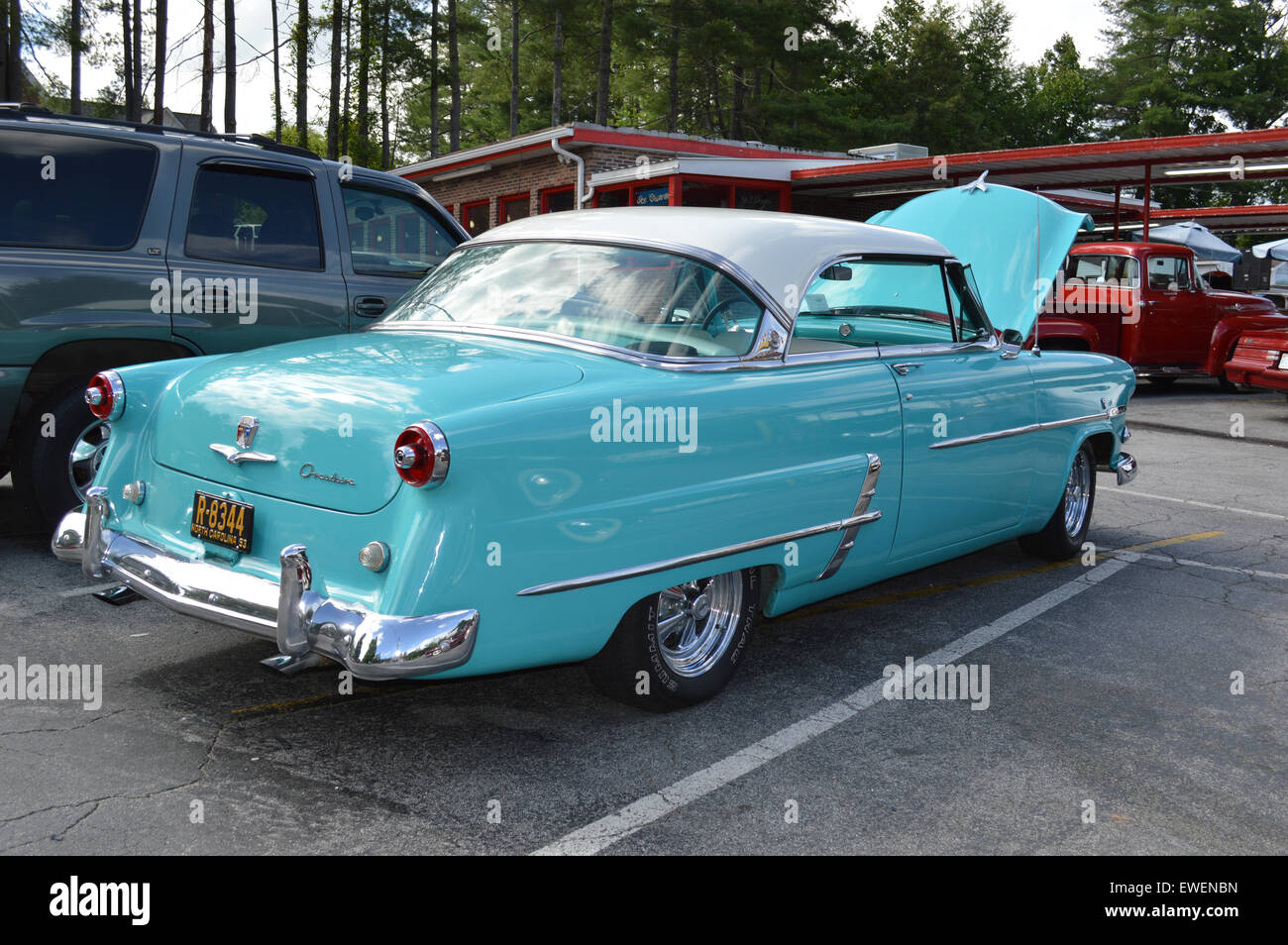 A 1953 Ford two door hardtop. - Stock Image