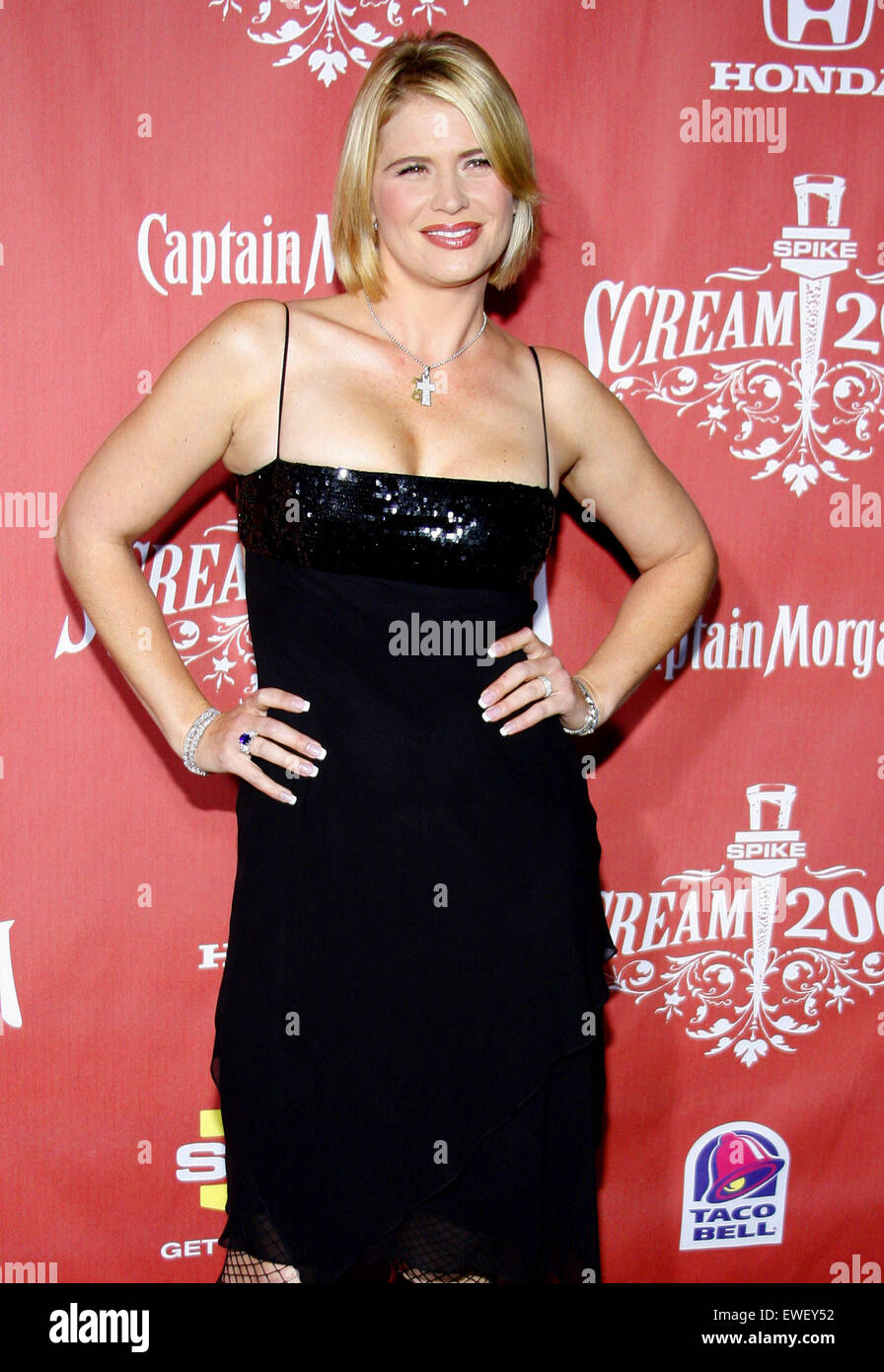 Kristy Swanson at the 2007 Spike TV's Scream Fest held at the Greek Theater in Hollywood on October 19, 2007. - Stock Image