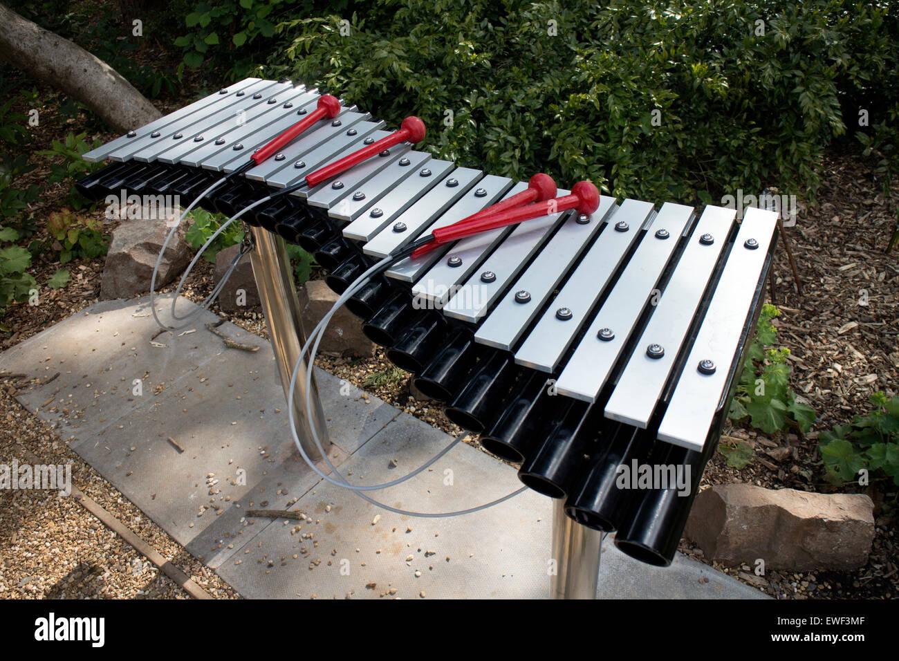 Xylophone In The Sensory Garden, Jephson Gardens, Leamington Spa, UK