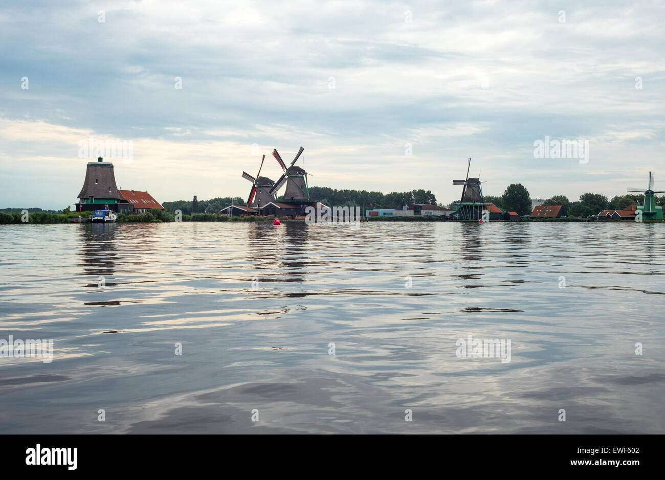 Amsterdam, Waterland district, Zaandam, the famous area of the mills Stock Photo