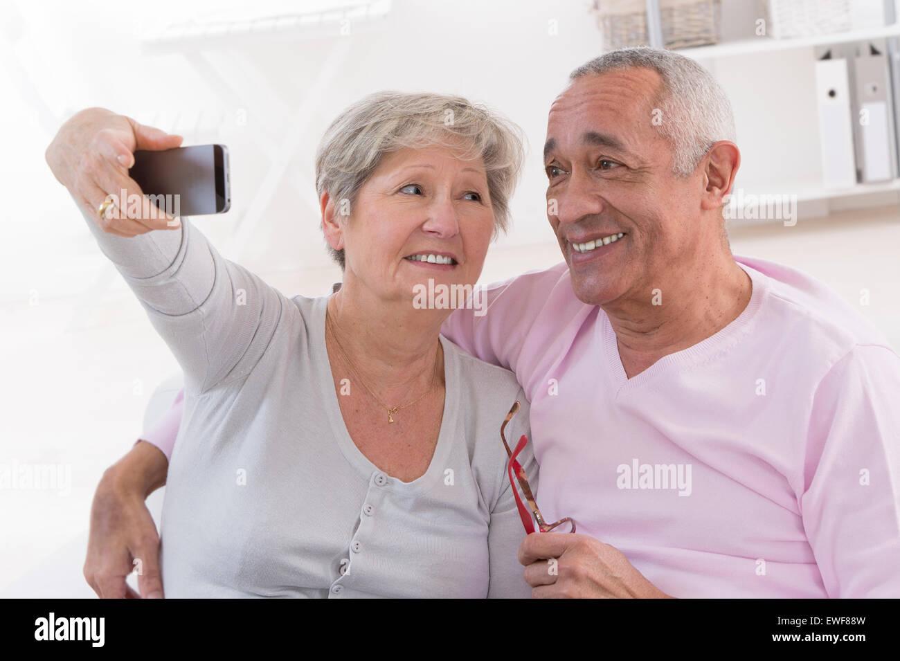 SENIOR COUPLE - Stock Image